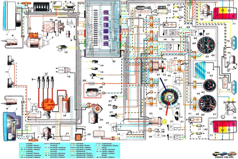 электрическая схема ваз - 21074