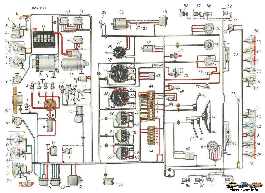 Схема электро ваз 2103