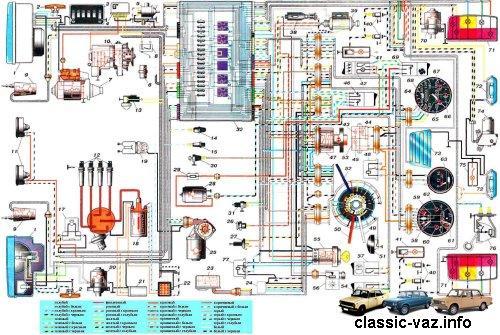 Электросхема ВАЗ 2104