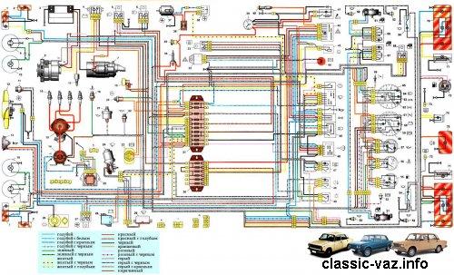 Электросхема lt b gt ваз lt b gt 21061 и lt b gt 21063 lt b gt