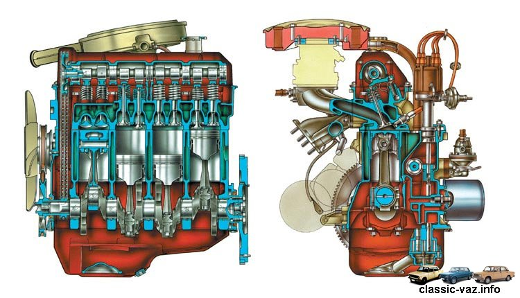 Схема Двигатель