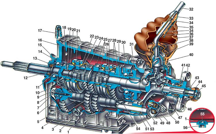 Каталог деталей коробки передач СААЗ 3206-1700004-60