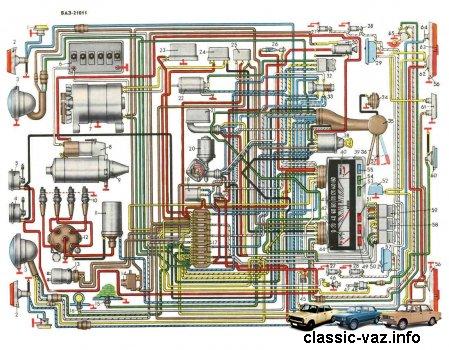 Электросхема ВАЗ 2102 и 21021