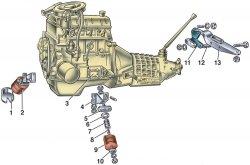 Двигатель ВАЗ 2101. Схема