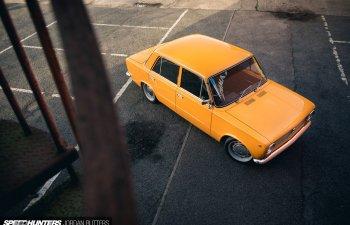 Заниженный ВАЗ 2101 из Англии